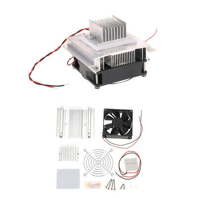 Thermoelectric Peltier Refrigeration Cooling System Kit Cooler Fan Module H4W0