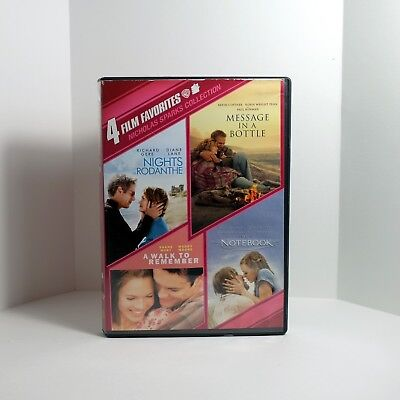DVD A Walk to Remember/Nights in Rodanthe/The Notebook/Message in a Bottle