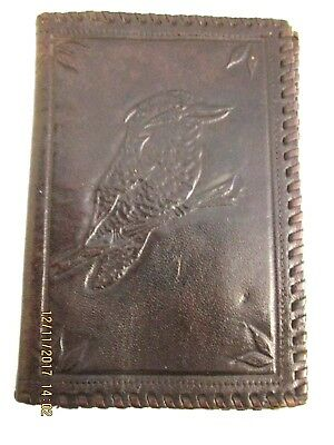 ~VINTAGE LEATHER WALLET with EMBOSSED KOOKABURRA - VGC~