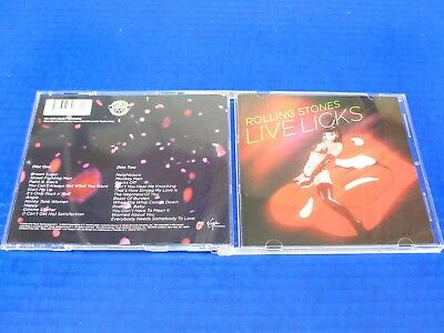 The Rolling Stones - Live Licks - Rock 2 CD SET w/23 Tracks Excellent Condition