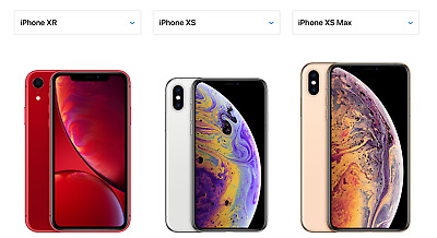 BRAND NEW SEALED iPhone XR, XS, MAX 64GB 128GB 256GB 512 GB GSM + CDMA UNLOCKED