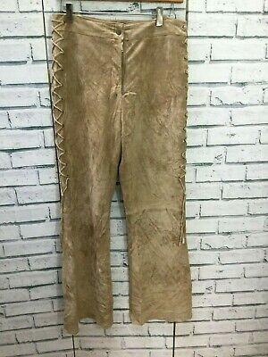 Vintage Suede Cowboy Style Trousers Designer Top Quality SIZE 10