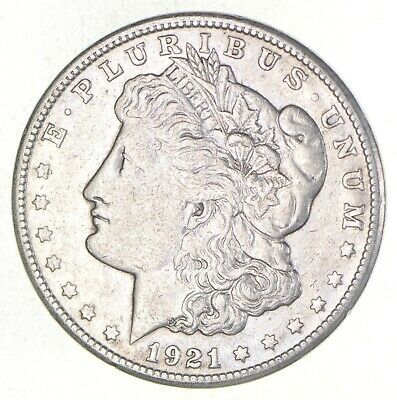 1921-S - Morgan Silver Dollar - Last Year - 90% - US Coin *871