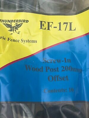 200mm Electric Fence Timber Wood Post Insulators Screw In Offset Pack Of 10