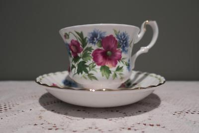 Royal Albert Flower Of The Month Cup & Saucer Duo - August - Poppy - Vgc