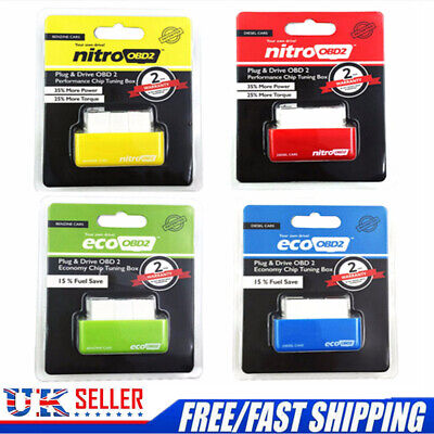 UK — ECO OBD2 Detector Flasher Fuel Power Economy Chip Tuning Box For Petrol Car