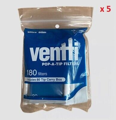 900 x Blue Ultra Slim Ventti Pop A Tip Filters Tobacco Cigarette Rolling Papers