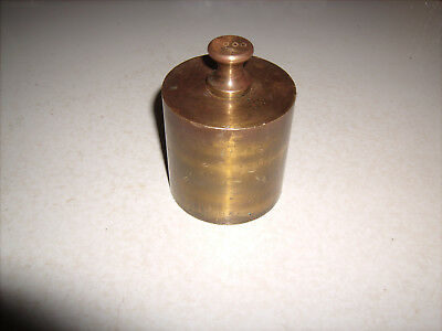 Vintage Brass Machined Calibration Weight for Balance Farm Lab Scales 2000 gm