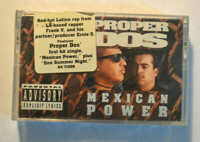 Rare Cassette - PROPER DOS - MEXICAN POWER SEALED w/ HYPE STICKER OOP 1992 Rap