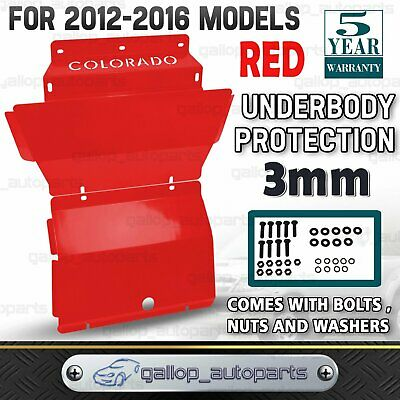 Premium Bash Plate for Holden Colorado 2012-2016 Steel Front Sump Guard 3mm Red