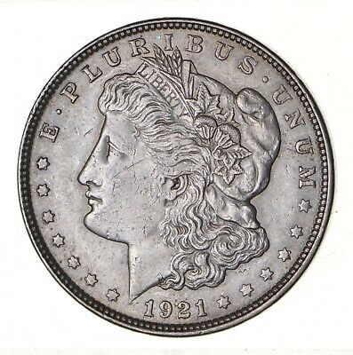 1921 - Morgan Silver Dollar - Last Year - 90% - US Coin *139