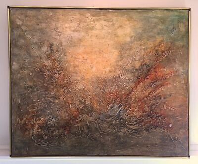 Large Abstract Modern Expressionism Painting. Impasto Layered Texture Signed