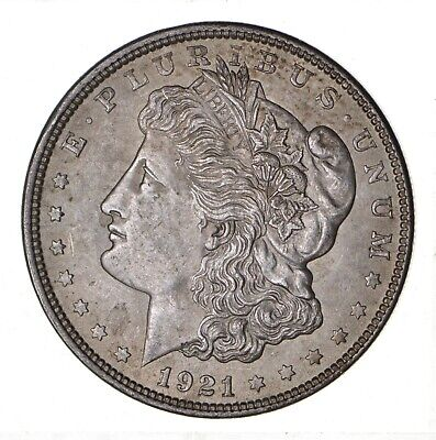 1921 - Morgan Silver Dollar - Last Year - 90% - US Coin *128