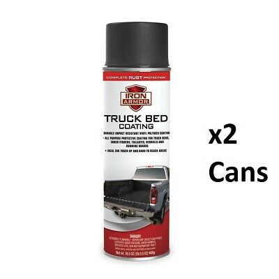 2 Pack Black Truck Bed Liner Trailer Coating Spray Protection Automotive Paint