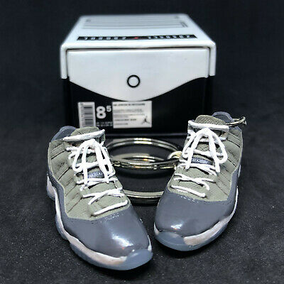87ce4a956c2784 Air Jordan Xi 11 Retro Cool Grey Low Og Keychain 3D Sneaker Shoes Box Figure  1