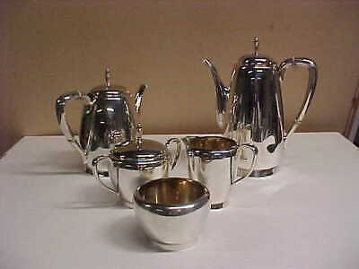 Reed And Barton Town & Country 5 Piece Sterling Silver Tea/coffee Set