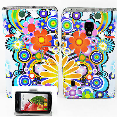 Lovely Wallet Leather Cover Stand Pouch Case For LG Optimus L7 II P715 Hot