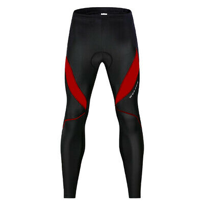 Mens Black Long Cycling Pants Padded Riding Legging Thermal Biker Sportswear