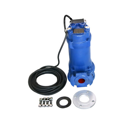Industrial Sewage Cutter Grinder Sump Pump 44 GPM 110V 1 HP Submersible