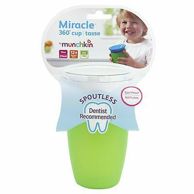 GREEN Munchkin Miracle 360 Degree Sippy Toddler Cup Dentist Recommended NoSpout
