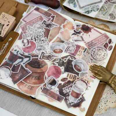 64 Pcs Haul Coffee Washi Stickers Pack Fit For Junk Journal