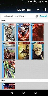 Topps Star Wars Card Trader Galaxy Selects Series 2 Wave 2 Blue with Award