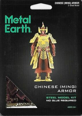 Fascinations Metal Earth Chinese (Ming) Ancient China Armor 3D Model Kit MMS141