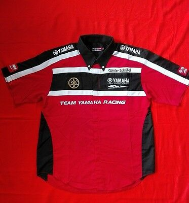 YAMAHA TEAM RACING Men Pit Crew Mechanic Shirt XL wie neu
