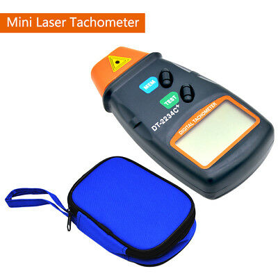 LCD Digital Laser Tachometer Non Contact RPM Tach Meter Motor Speed Gauge