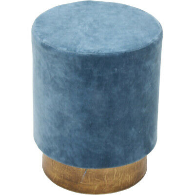 Renwil CHA013 Berkley I 18 inch Crystal Teal and Antique Brass Stool