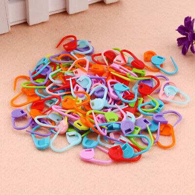 100PCS Locking Stitch Marker Lock Pins Ring Markers for Knitting Needles