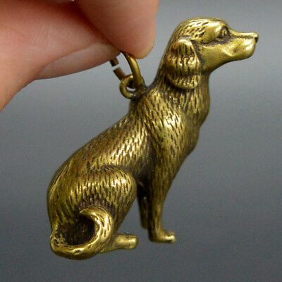 Chinese old collection handwork bronze Zodiac Dog Key buckle statue Pendant