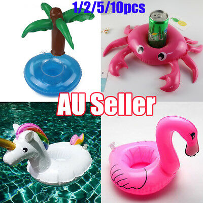 Inflatable Floating Drink Can Cup Holder Beer Unicorn Swimming Pool Bath Beach P
