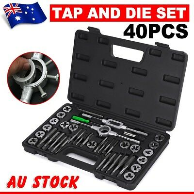 40Pcs Screw Screwdriver Thread Tap and Die Set Wrench Hand Drill DIY Tool Metric