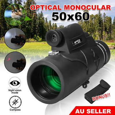 Telescope Day & Night Vision Mini Optical Monocular Hunting Camping Hiking 50x60