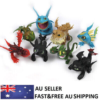 How To Train Your Dragon 2 Toothless Cartoon Action Figure Doll Toys Gift 8 PCS