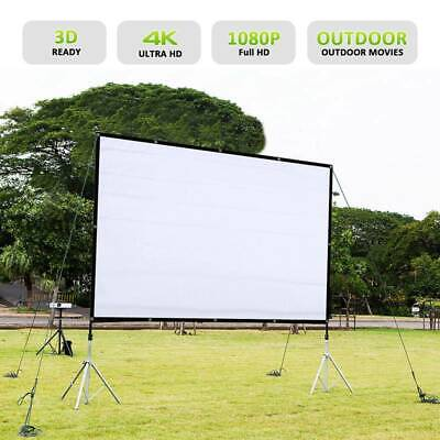 "72""/84""/100""/120"" Projector Projection Screen 16:9 Home Cinema Theater Foldable"