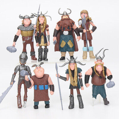 How To Train Your Dragon Hiccup Astrid Stoick Fishlegs Action Figure Toys 8 PCS