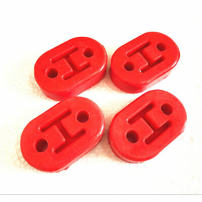 4x Exhaust Mount Rubber Insulator Hanger 2Holes Red Color 4Pcs//pack