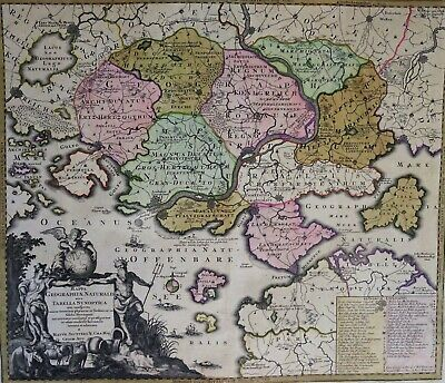 Rare map of imaginary lands, M. Seutter, 1734, Mappa Geographiae Naturalis sive