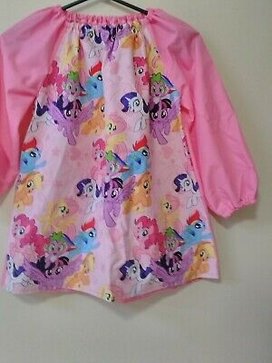 Handmade Kids My Little Pony COTTON  Art Smock Girls 4-7