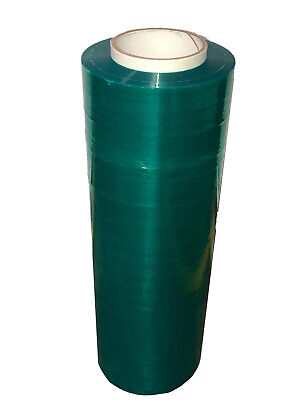 "Tinted Emerald Green Pallet Stretch Film 18"" x 1500' 80 Ga Shrink Wrap 192 Rolls"