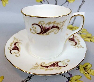 Vintage bone china COFFEE / ESPRESSO CUP CAN. Possibly Royal Doulton Strasbourg