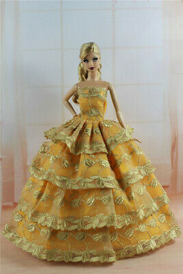 Fashion Princess Party Dress/Evening Clothes/Gown For 11.5 inch Doll a01