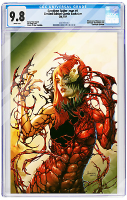 Cgc 9.8 Symbiote Spider-Man #1 'carnage Queen' Jay Anacleto Virgin Cover June