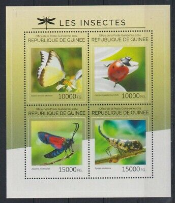 I218. Guinea - MNH - 2014 - Nature - Insects - Various