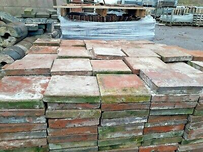 "Genuine Reclaimed Red Quarry Tiles 8""x8"" 