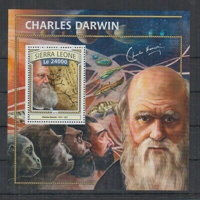 G218. Sierra Leone MNH - 2016 - Famous People - Charles Darwin - Bl