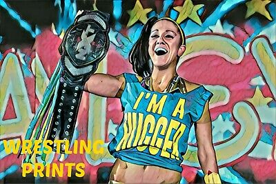BAYLEY NXT WWE WOMENS WRESTLING POSTER PICTURE PRINT Sizes A5 to A0 *NEW**