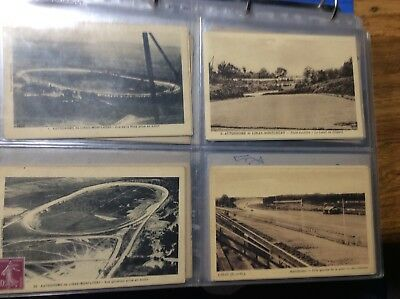 Collection cartes postales autodrome de linas-monlhery rare ensemble